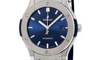 HUBLOT CLASSIC FUSION TITANIUM BLUE AUTOMATIC 45MM 511.NX.7170.LR