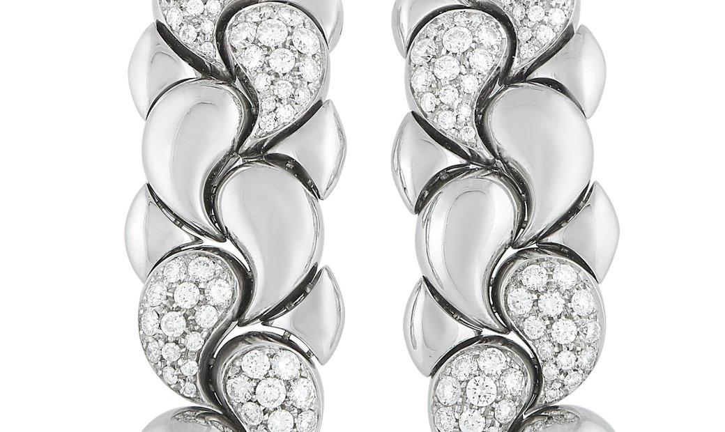 Chopard Chopard Casmir 18K White Gold 3.75 ct Diamond Earrings