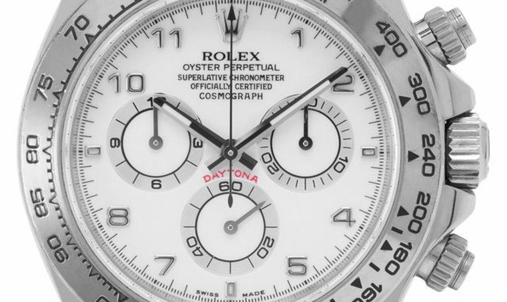 Rolex Daytona 116519, Arabic Numerals, 2012, Good, Case material White Gold, Bracelet m
