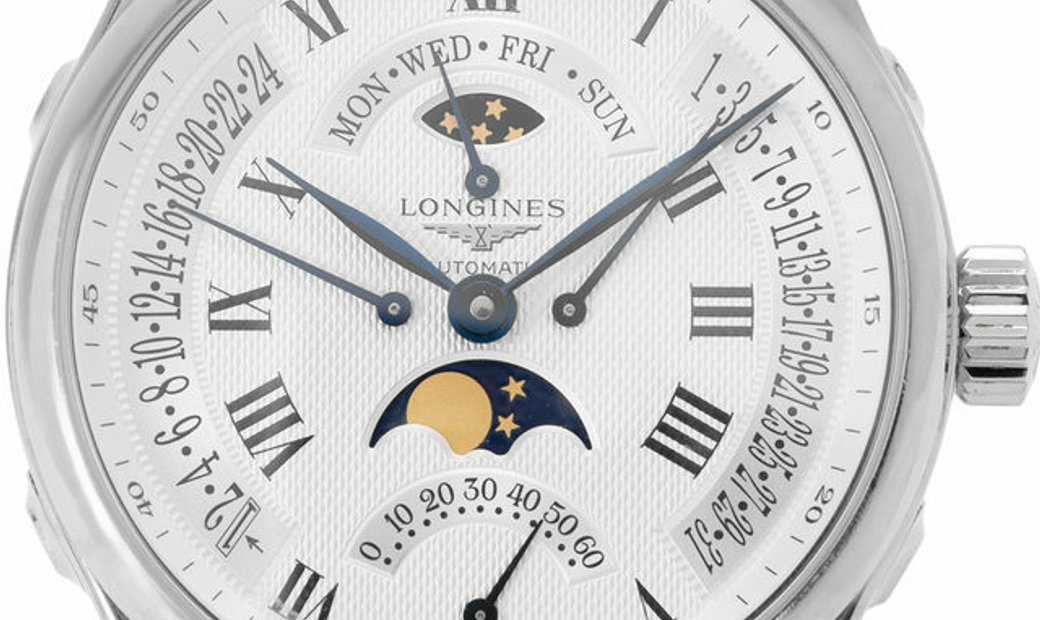 Longines Master Collection L2.739.4.71.3, Roman Numerals, 2018, Good, Case material Ste