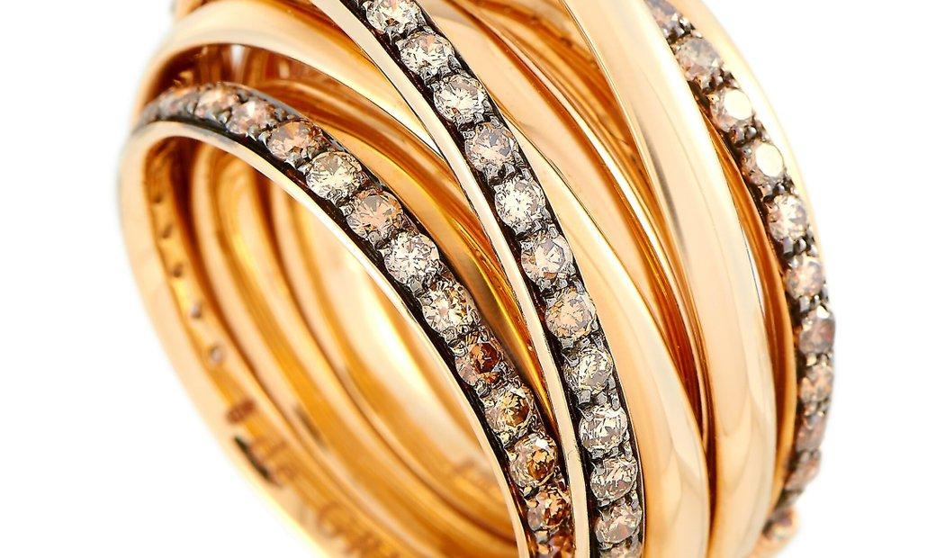 de Grisogono de Grisogono Allegra 18K Rose Gold 2.05 ct Diamond Ring