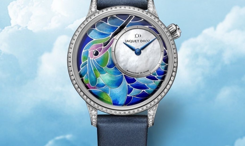 Jaquet Droz [NEW] Petite Heure Minute Smalta Clara Humming Bird J005504501 (Retail:CHF 56'200)