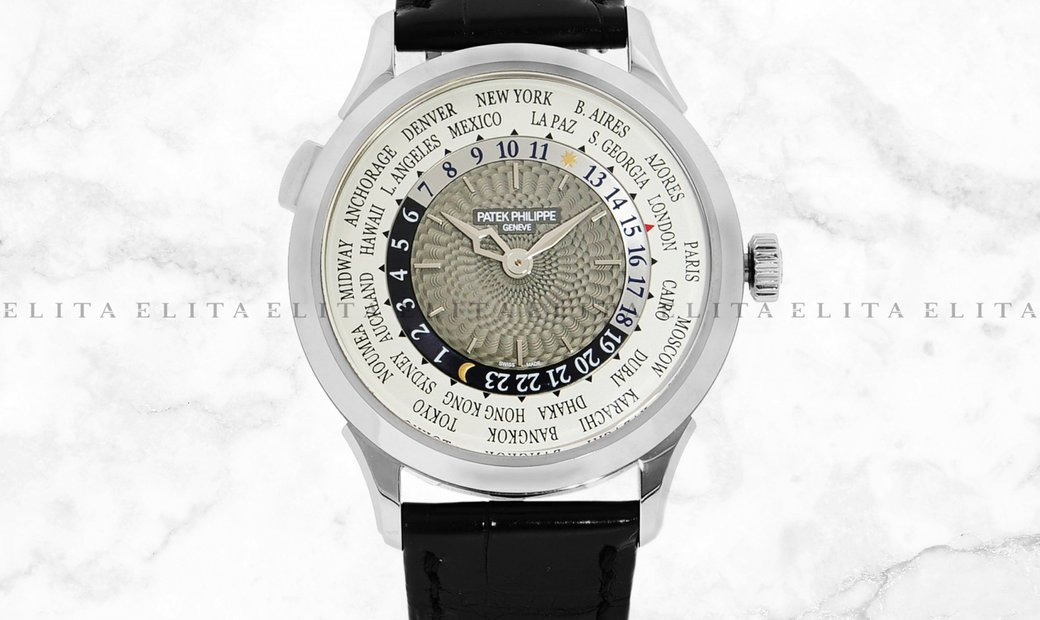 Patek Philippe Complications World Time  5230G-001 White Gold  Charcoal Grey Dial