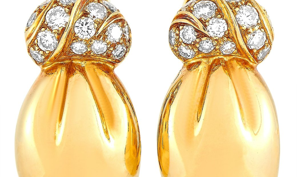 Van Cleef & Arpels Van Cleef & Arpels Vintage 18K Yellow Gold 0.50 ct Diamond Earrings