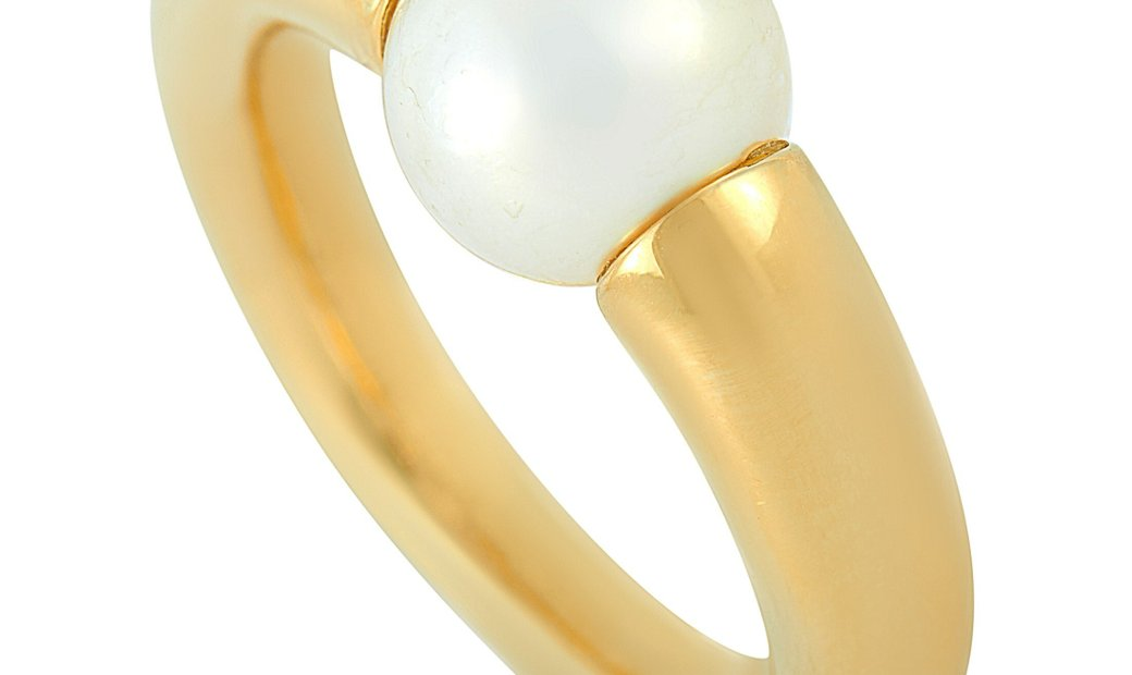 Cartier Cartier 18K Yellow Gold Pearl Ring