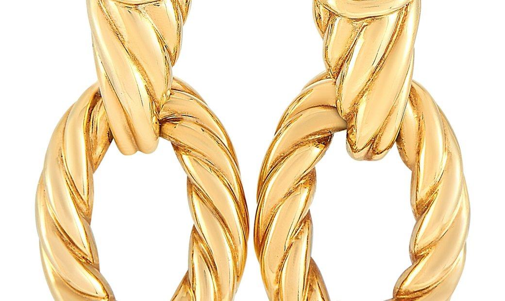 Boucheron Boucheron Serpent 18K Yellow Gold Diamond Earrings