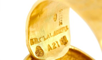 Ilias Lalaounis Ilias Lalaounis 18K Yellow Gold Buckle Ring