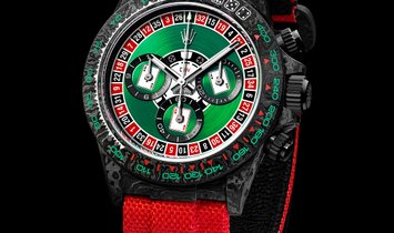 "Rolex DiW NTPT Carbon Daytona ""LUCKY PLAYER CASINO"" (Retail: US$52,990)"