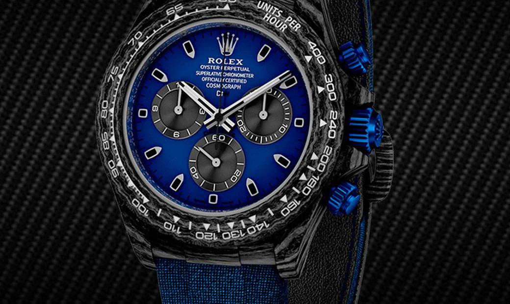 "Rolex DiW Cosmograph NTPT Carbon Daytona Panda ""MIAMI BLUE"" (Retail:US$44,000)"