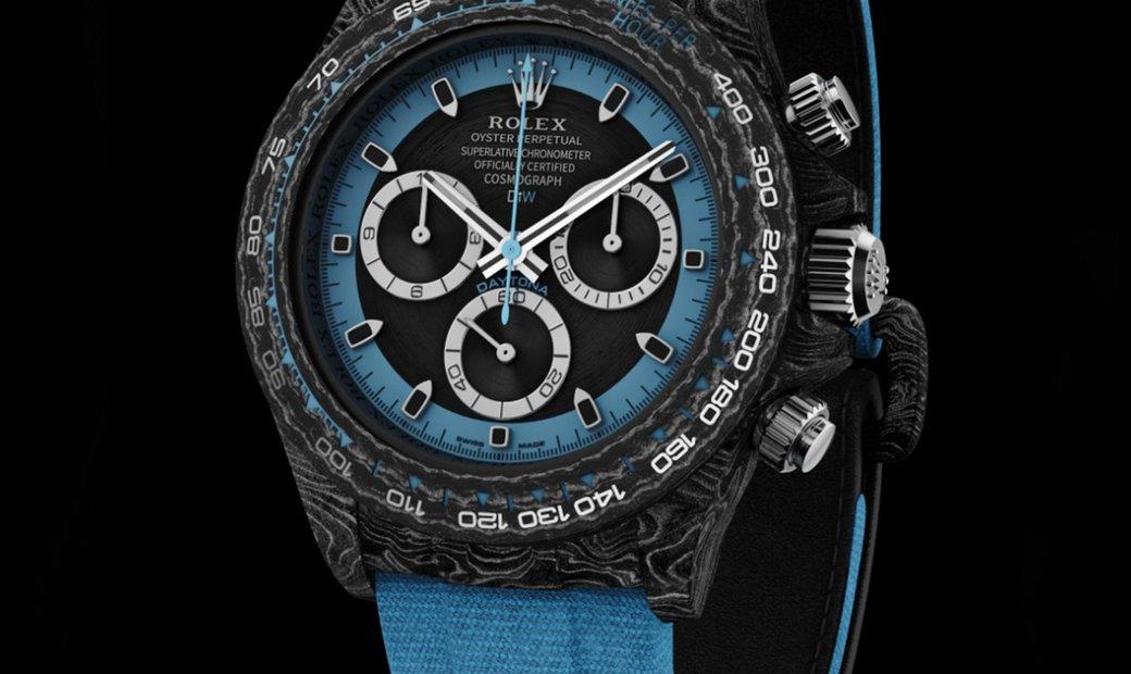 "Rolex DiW [LIMITED 10 PIECE] NTPT Carbon Daytona ""ELECTRO"" (Retail:US$52,000)"