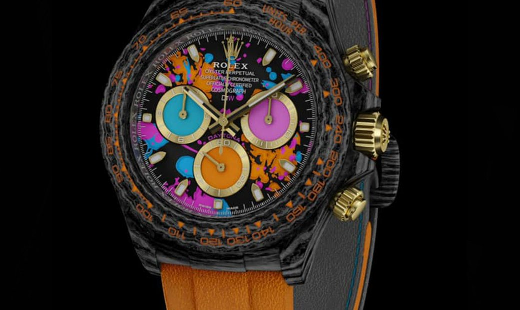 "Rolex DiW NTPT Carbon Daytona ""MOTLEY ORANGE"" (Retail:US$57,300)"