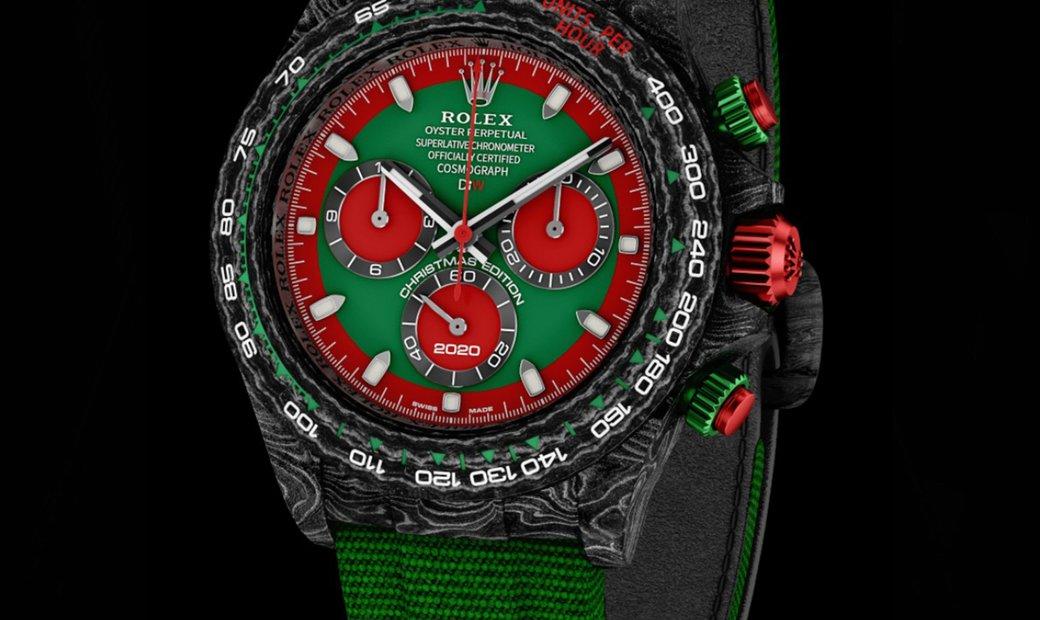 "Rolex DiW [LIMITED 1 PIECE] NTPT Carbon Daytona ""CHRISTMAS EDITION"" (Retail:US$54,990)"