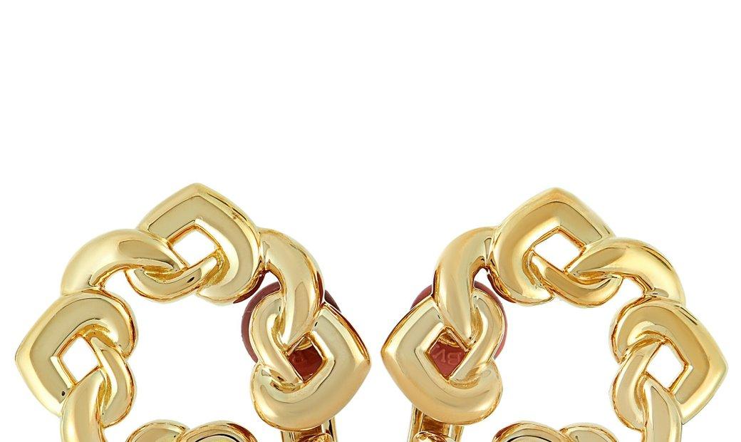 Bvlgari Bvlgari Doppio Cuore 18K Yellow Gold Earrings