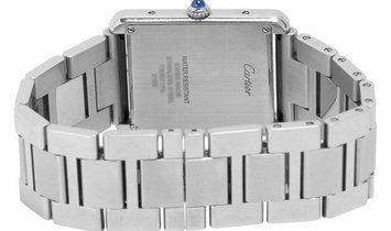 Cartier Tank Solo W5200014 3169, Roman Numerals, 2019, Very Good, Case material Steel,