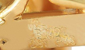 Van Cleef & Arpels Van Cleef & Arpels 18K Yellow Gold Pearl Snowman Brooch