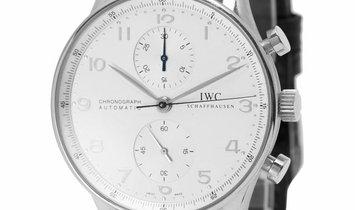 IWC Portugieser Chronograph IW371405, Arabic Numerals, 2002, Very Good, Case material W