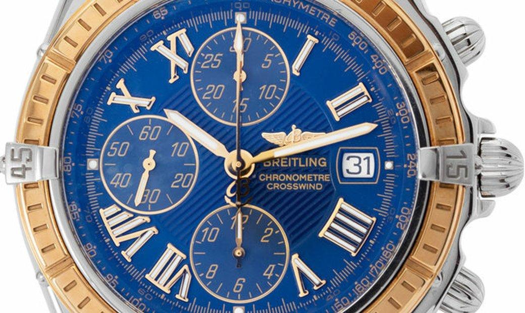 Breitling Crosswind D13355, Roman Numerals, 2004, Very Good, Case material Steel, Brace