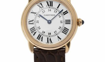 Cartier Ronde Solo 3600, Roman Numerals, 2015, Good, Case material Yellow Gold, Bracele
