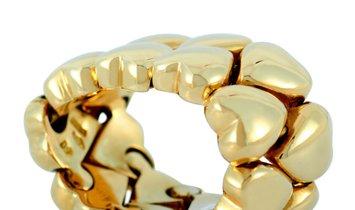 Cartier Cartier 18K Yellow Gold Heart Band Ring