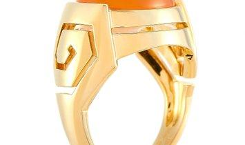 Boucheron Boucheron 18K Yellow Gold Carnelian Ring