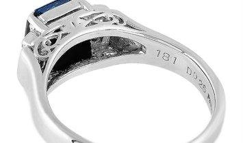 LB Exclusive LB Exclusive Platinum 0.26 ct Diamond and Sapphire Ring