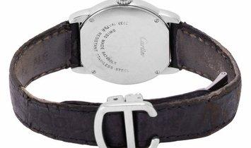 Cartier Ronde Solo W6700155 2933, Roman Numerals, 2008, Good, Case material Steel, Brac