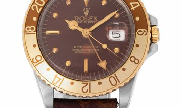 Rolex GMT-Master 16750, Baton, 1985, Used, Case material Steel, Bracelet material: Leat