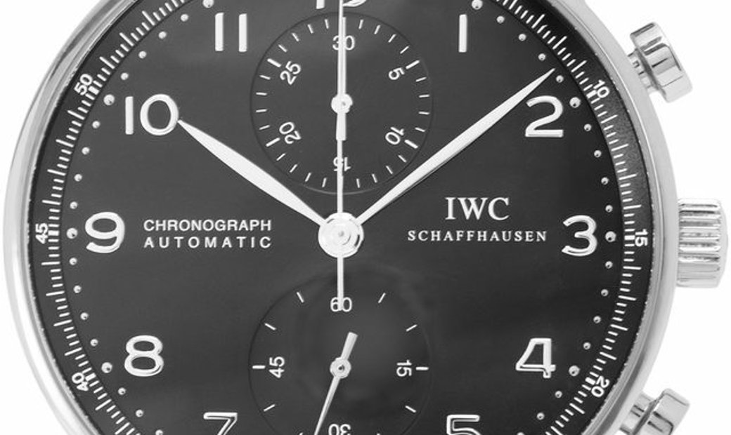 IWC Portugieser Chronograph IW371438, Arabic Numerals, 2009, Very Good, Case material S
