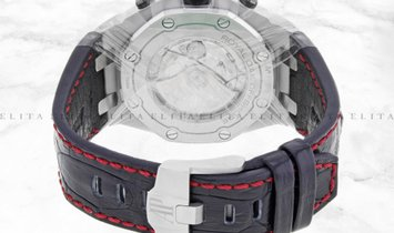 Audemars Piguet Royal Oak Offshore 26470ST.OO.A101CR.01 Steel Black Tappisserie Dial Leather Band