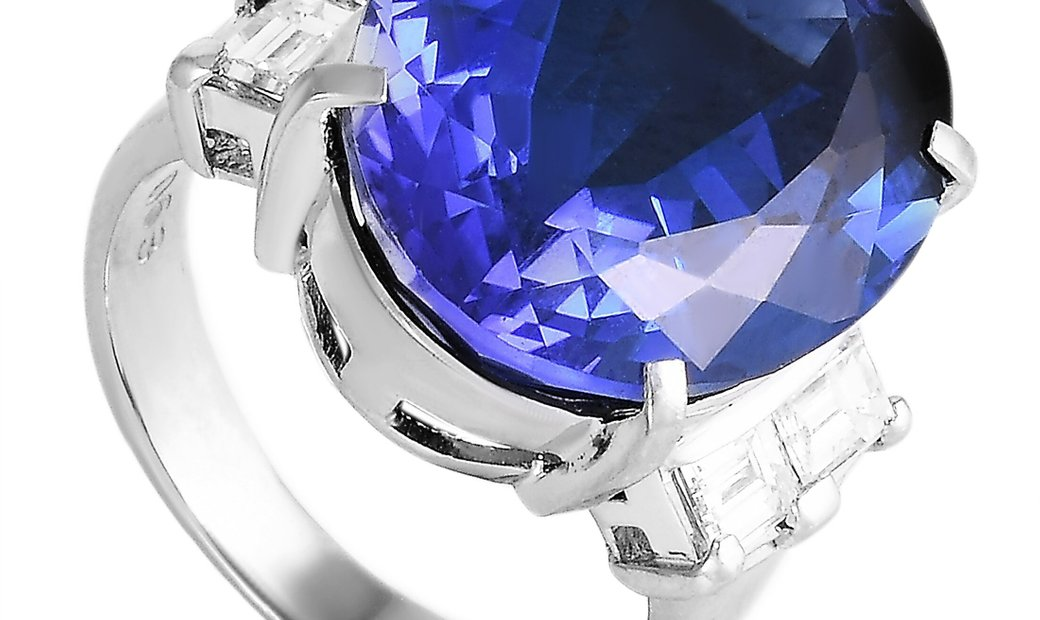 LB Exclusive LB Exclusive Platinum 0.63 ct Diamond and Tanzanite Ring