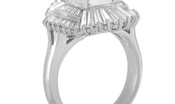 LB Exclusive LB Exclusive Platinum 1.71 ct Diamond and Opal Ring