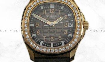 Patek Philippe Aquanaut 5068R-001 Rose Gold Diamond Bezel Chocolate Brown Dial
