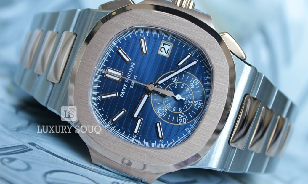 Patek Philippe Nautilus Stainless Steel and Rose Gold 5980/1AR-001