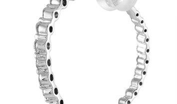 LB Exclusive LB Exclusive 18K White Gold 1.00 ct Diamond Hoop Earrings