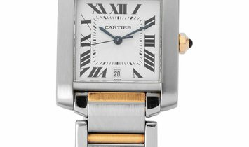 Cartier Tank Francaise W51005Q4 2302, Roman Numerals, 1998, Very Good, Case material St
