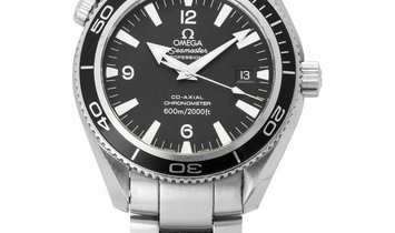 Omega Seamaster Planet Ocean 600 M 2201.50.00, Arabic Numerals, 2005, Very Good, Case m