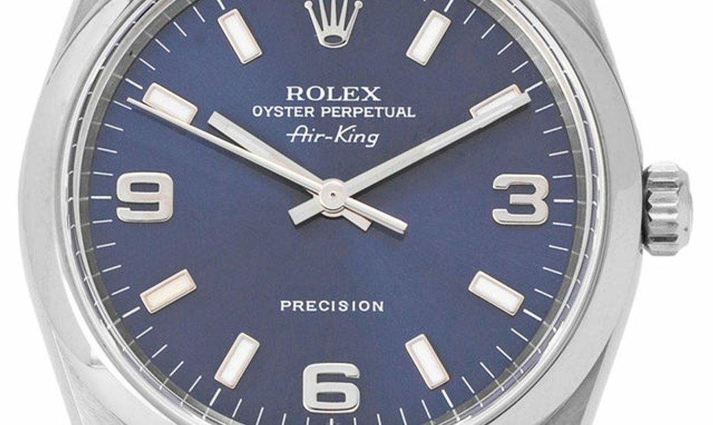 Rolex Air-King 14000 M, Arabic Numerals, 2006, Very Good, Case material Steel, Bracelet