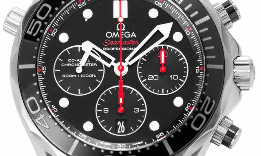 Omega Seamaster Diver 300 M Chronograph 212.30.44.50.01.001, Baton, 2016, Good, Case ma