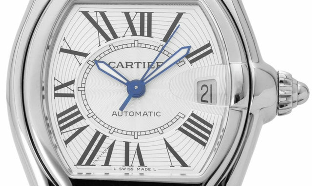 Cartier Roadster W62025V3 2510, Roman Numerals, 2010, Very Good, Case material Steel, B