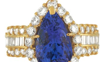 LB Exclusive LB Exclusive 18K Yellow Gold 1.73 ct Diamond and Tanzanite Ring