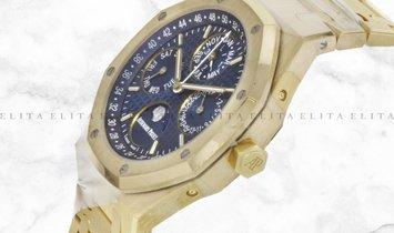 Audemars Piguet Royal Oak Perpetual Calendar 26574BA.OO.1220BA.01 Yellow Gold Blue Dial
