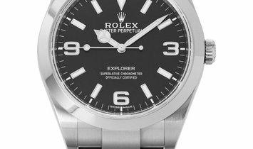Rolex Explorer 214270, Arabic Numerals, 2019, Very Good, Case material Steel, Bracelet