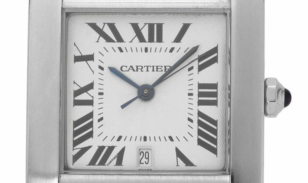 Cartier Tank Francaise W51002Q3 2302, Roman Numerals, 1997, Very Good, Case material St