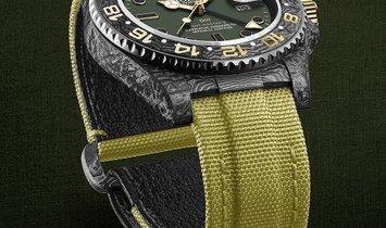 """Rolex DiW NTPT Carbon GMT-Master II """"Desert"""" (Retail: US$44,000)"""