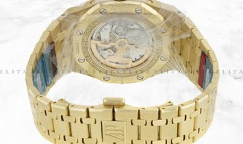 Audemars Piguet Royal Oak Perpetual Calendar 26574BA.OO.1220BA.01 Yellow Gold Blue Dial