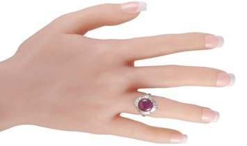 LB Exclusive LB Exclusive Platinum 1.00 ct Diamond and Ruby Ring