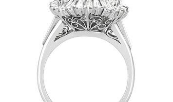 LB Exclusive LB Exclusive Platinum 1.41 ct Diamond and Sapphire Ring