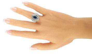 LB Exclusive LB Exclusive Platinum 2.56 ct Diamond and Sapphire Ring
