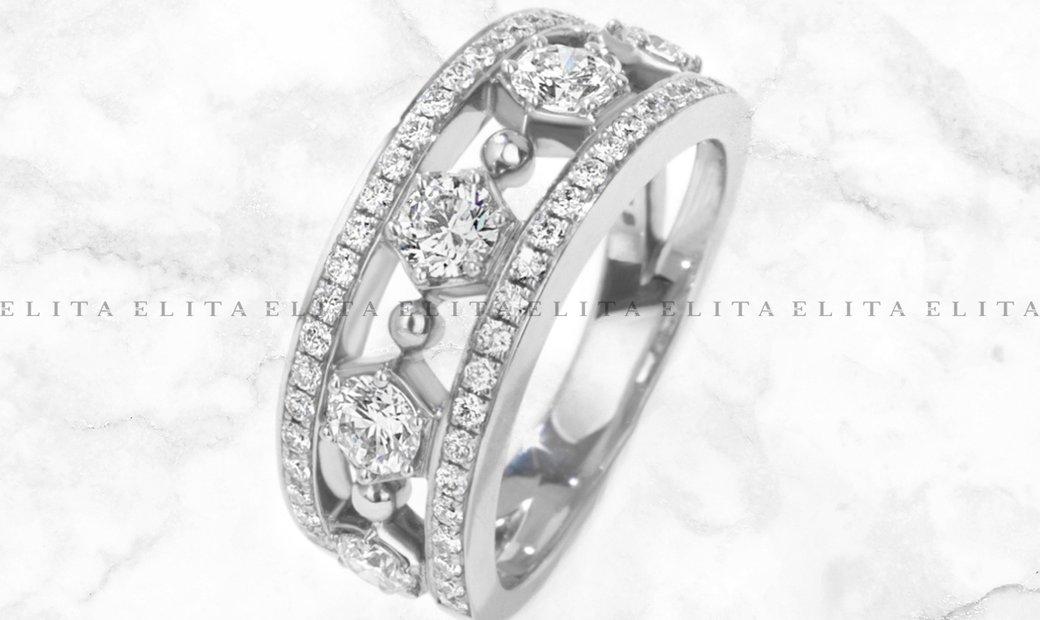 18K White Gold Gala Diamond Ring