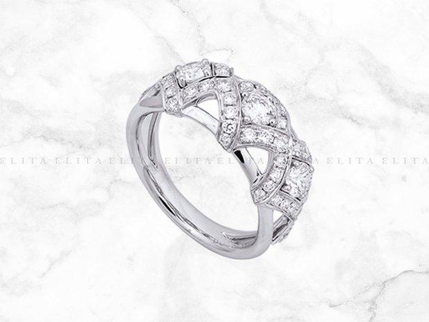 Platinum and Diamond Lattice Ring (11142761)